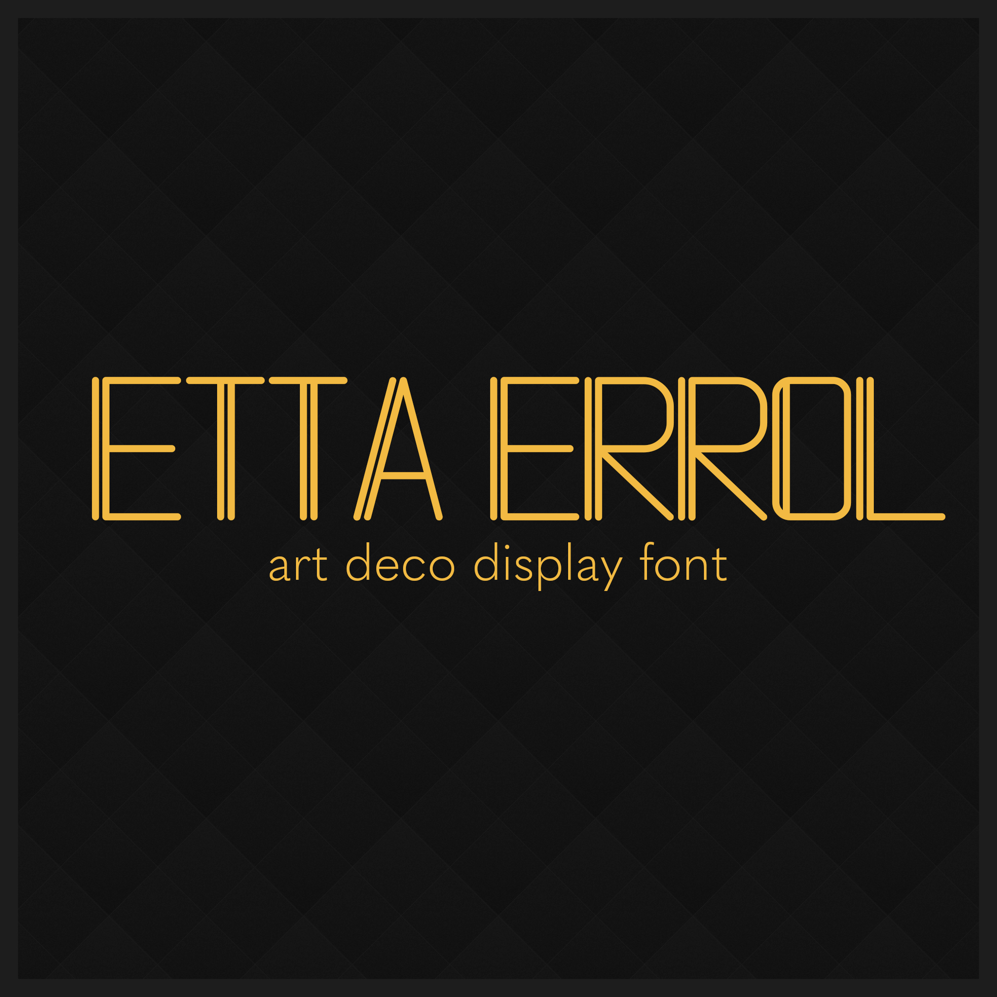Etta Errol Font Sample