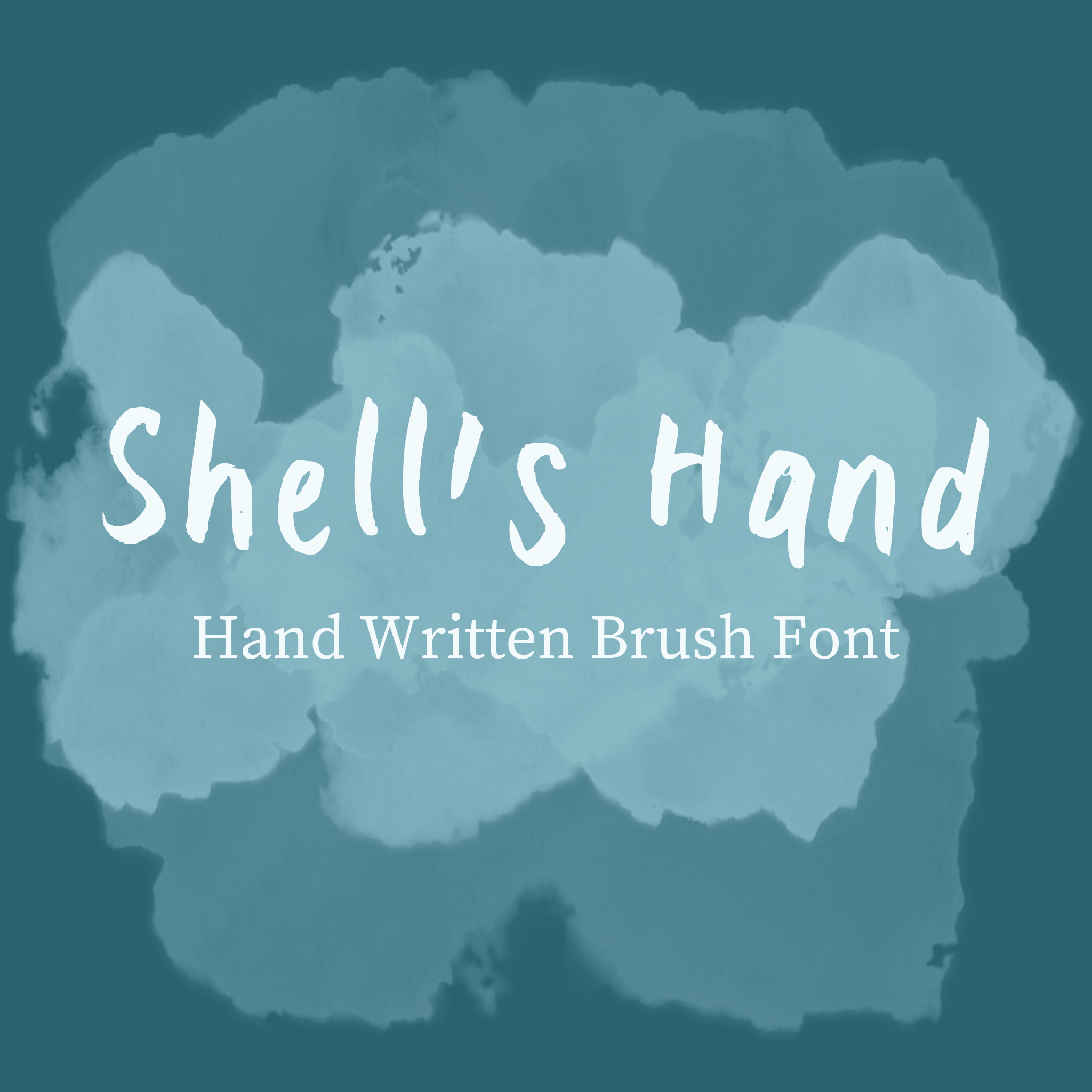 Shells Hand Font Sample